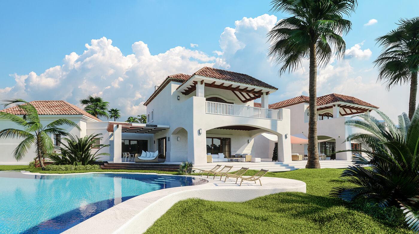 luxury pool home